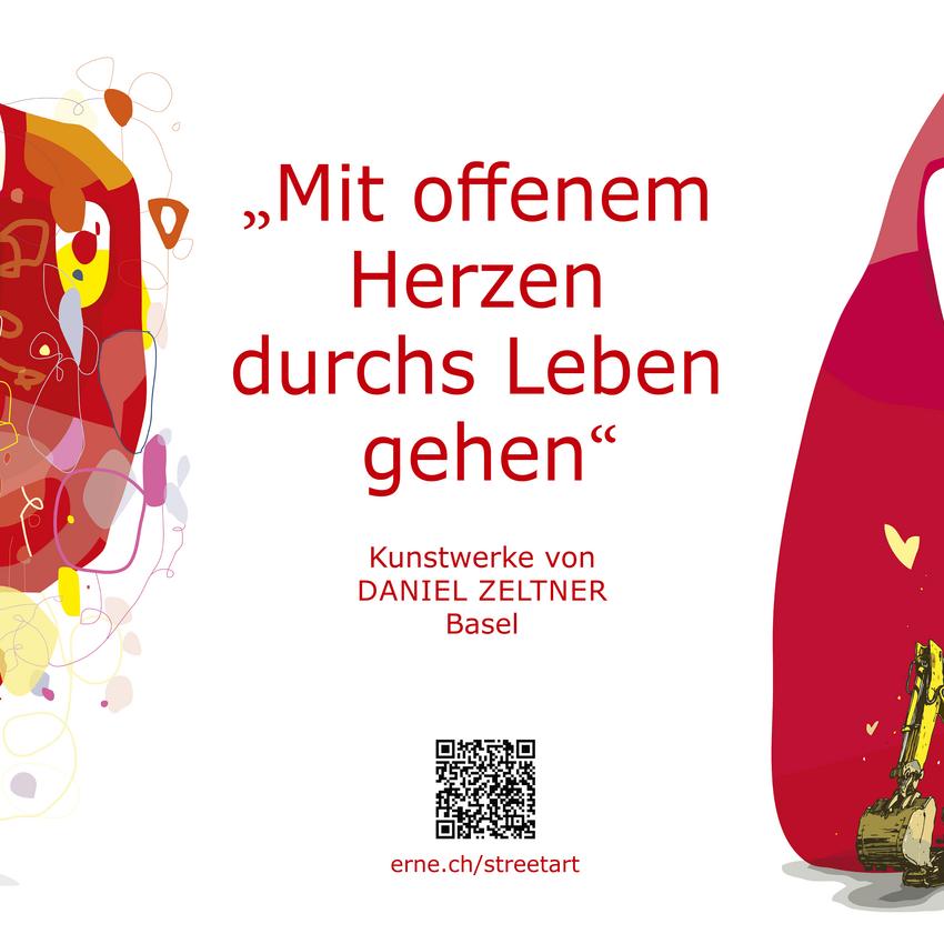 Streetart Netze Herzlibagger Daniel Zeltner ERNE