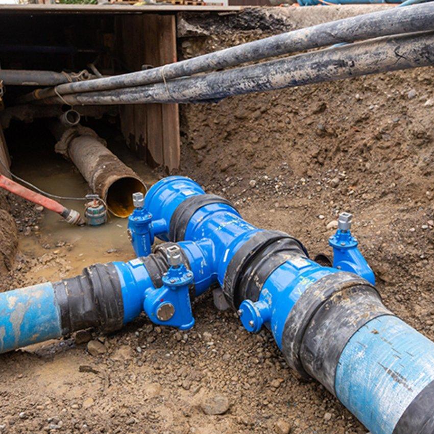 Rohrleitungsbau von neuen Rohrleitungen