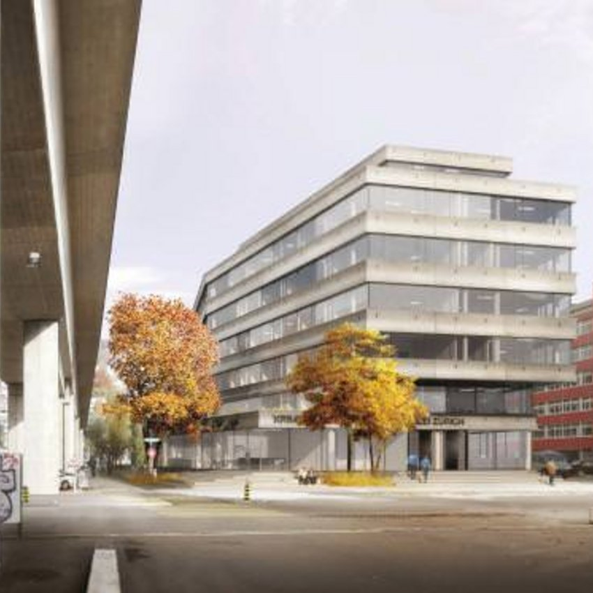 Die ERNE AG Bauunternehmung baut in Zürich West bis 2021 einen Neubau für die Kriminalpolizei Zürich.