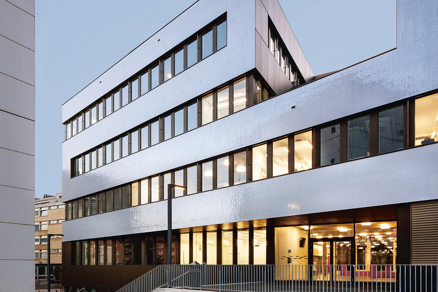 Microcity Neuchatel Sytem-Bauweise, Holz-Beton-Verbund