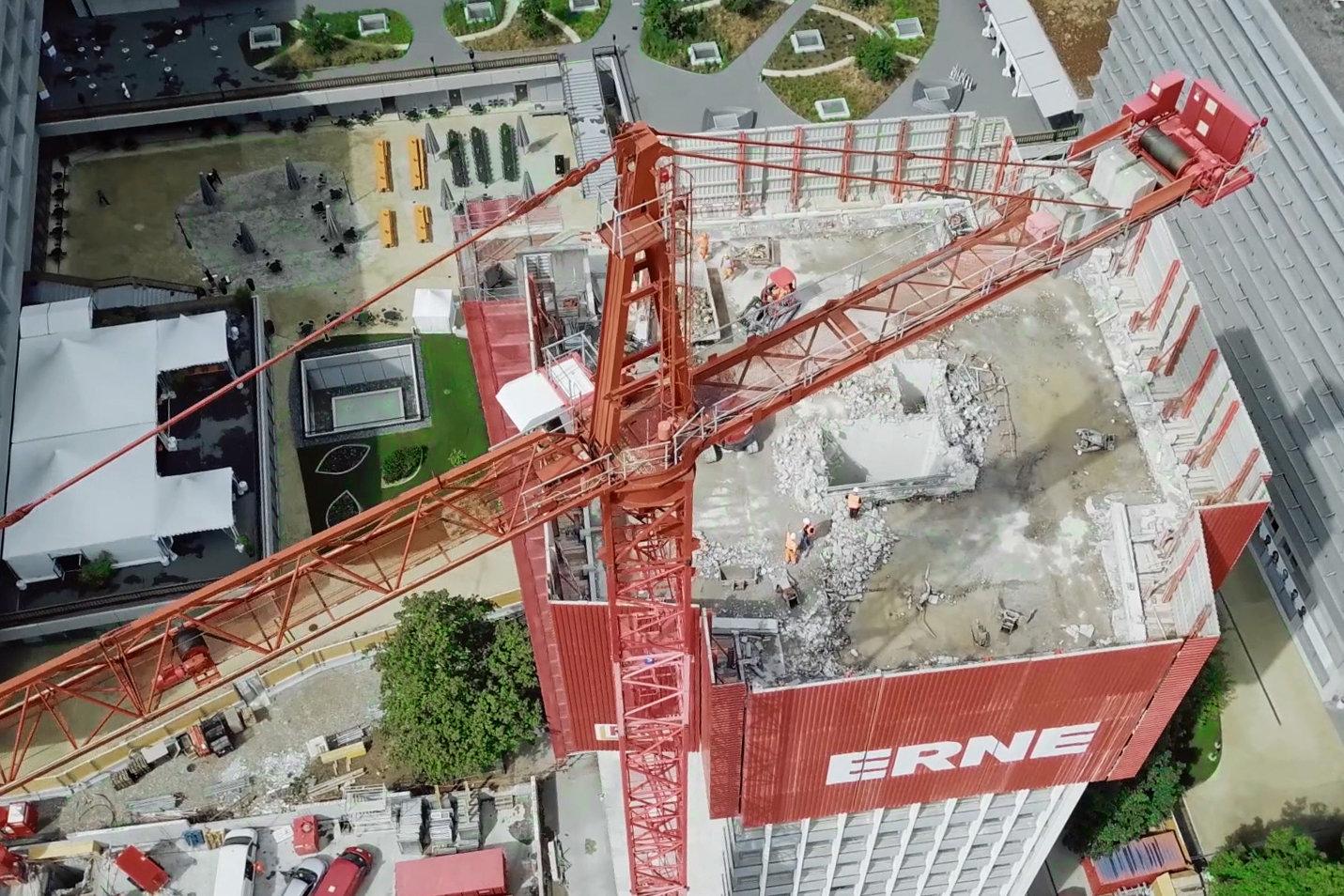 Rückbau Syngenta Tower